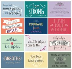 Labor Affirmation Cards