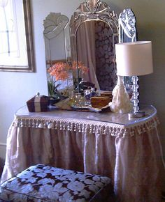 Dressing Table With Skirt For The Home Dressing Table