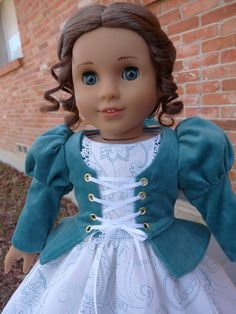 18 Doll Clothes Civil War Style Gown Fits by Designed4Dolls