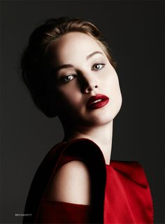 Jennifer Lawrence, a classic vision of beauty by Ben Hassett in Harpers Bazaar UK.