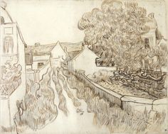 Vincent van Gogh Drawing, Pencil, pen, brown ink Auvers-sur-Oise: May - late in month, 1890 Vincent Van Gogh, Artist Van Gogh, Van Gogh Art, Van Gogh Drawings, Van Gogh Paintings, Van Gogh Museum, Art Van, Tree Sketches, Drawing Sketches