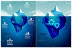 Icebergs Infographics by Beatriz Gascón on @creativemarket