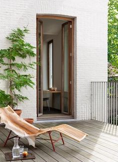 An outdoor deck in the studio of Marie Mees. Photograph by Van Leuven Bart for Office for Word and Image.