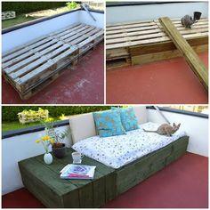 DIY : Day Bed Pallet Project   DIY & Crafts Tutorials