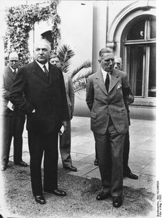 German cabinet members Neurath and Papen, Berlin, Germany, Jun 1932, photo 1 of 3