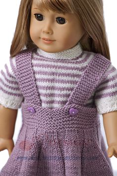 Knitted Doll Patterns, Doll Dress Patterns, Knitted Dolls, American Doll Clothes, Girl Doll Clothes, Knitting Dolls Clothes, Baby Knitting, Pixie, Ideas