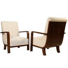 Pair of Swedish Grace Lounge Chairs | From a unique collection of antique and modern lounge chairs at https://www.1stdibs.com/furniture/seating/lounge-chairs/