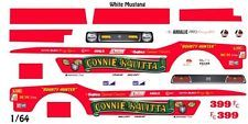 Connie Kalitta Mustang Funny Car 1/64th HO Scale Slot Car Waterslide Decals