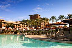The Westin Kierland Resort & Spa in Scottsdale, AZ - float down the lazy river pool.  The resort also plan elaborate seasonal activities