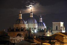 Súper luna en Cuenca Ecuador