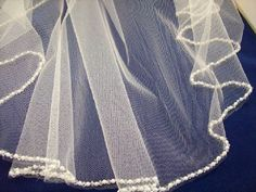 Beautiful Tulle Veil with beading by DananessaEvents on Etsy