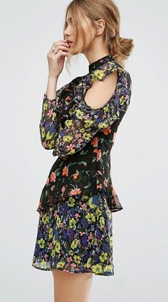 There is nothing more feminine than this Open Shoulder Chiffon Dress! This style is perfect for holiday. Shop at AZBRO.com