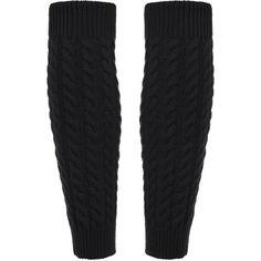 Black Leg Warmers Knitting Crochet Socks ($2.85) ❤ liked on Polyvore featuring intimates, hosiery, socks, leg warmer socks, knit leg warmers, knit socks, crochet socks and crochet leg warmers