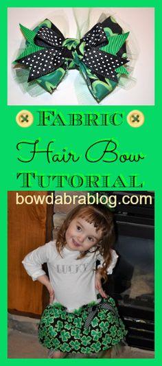 Forget the hair bow LOOOOVE the dress!!!!! Fabric Hair Bow Tutorial