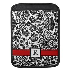 iPad Custom Monogram Red Black Floral Damask iPad Sleeve Yes I can say you are on right site we just collected best shopping store that haveThis Dealslowest price Fast Shipping and save your money Now! Personalized Gifts For Kids, Customized Gifts, Custom Gifts, Purple And Black, Red Black, White Damask, Ipad Sleeve, Custom Notebooks, Monogram