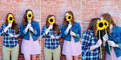 LGBT Engagement Portraits by Simone Epiphany Photography in Austin Texas #engagementportraits #lgbt #sunflowers