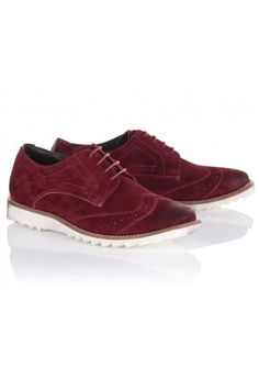 Twisted Soul Suede Brogue Shoes in Maroon, Fashion Games, Brogues, Your Shoes, Derby, Oxford Shoes, Dress Shoes, Lace Up, Footwear, My Style