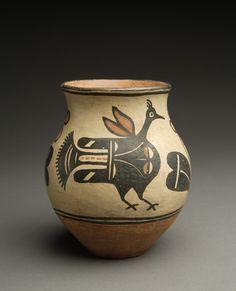 pueblo pottery bird designs