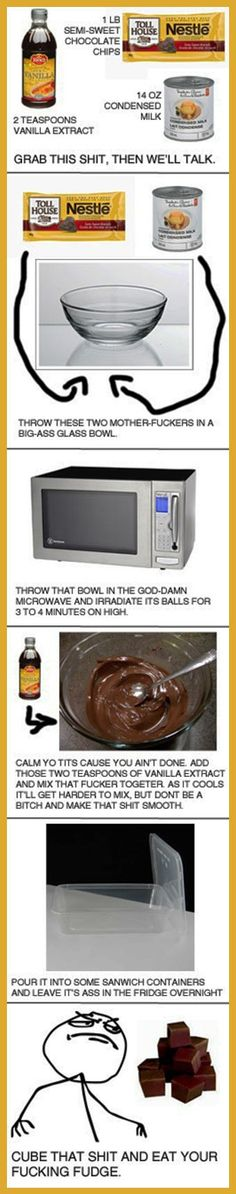 Shut up and follow the recipe…