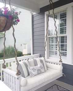 "1,100 Likes, 17 Comments - SherwinWilliams (@sherwinwilliams) on Instagram: ""Swing into sweet summertime on this peaceful porch, put together by @oursouthernhaven. Her…"""