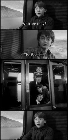 Harry Potter and Beatles? A Hard Day's Night/The Sorcerer's Stone