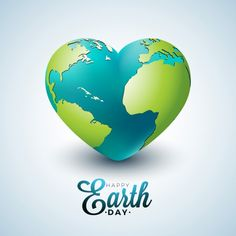 Earth Day Illustration With Planet In The Heart World Map Background On April 22 Environment Concept Vector Design For Banner Poster Or Greeting Card Vector and PNG World Environment Day, Environment Concept, Vector Amor, Adobe Illustrator, Leaf Vector, World Wetlands Day, Earth Logo, World Heart Day, Planet Design