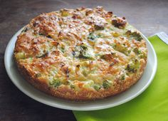 """Cauliflower and Broccoli """"Cake"""" --made this today and added bacon. It was very delicious."""