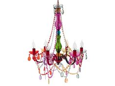 Multicolor Gypsy Chandelier Lamp by Funky Decor and Lighting--love this in a kids room or play area