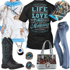Best Things In Life Mossy Oak Camo Cap Outfit - Real Country Ladies