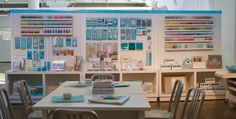 Martha Stewart Craft Paints, Tools and Stencils were displayed in our new showroom.