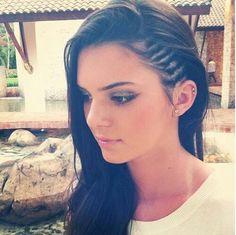 Kendall Jenner corn rolls