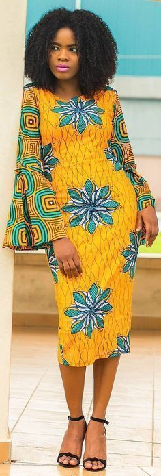African wear varies not just in design but also origin, fabric, color and meaning. You can virtually wear a different type of African dress every day. African Dresses For Women, African Print Dresses, African Attire, African Fashion Dresses, African Wear, African Women, African Prints, African Style, Dress Fashion
