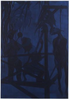 Chris Ofili Iscariot Blues, 2006Oil and charcoal on linen, 281 cm x 194.9 cm