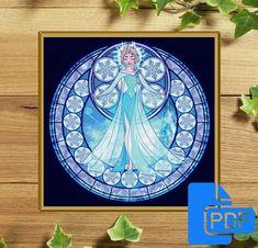 Princess Disney Frozen Fever Elsa Cross Stitch Pattern Disney