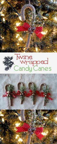 Twine Wrapped Candy Canes