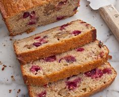 Recipes l Once Upon A Chef Cranberry Nut Bread Quick Bread Recipes, Easy Bread, Cooking Recipes, Easy Recipes, Muffin Recipes, Cooking Tips, Brunch Recipes, Breakfast Recipes, Breakfast Bites