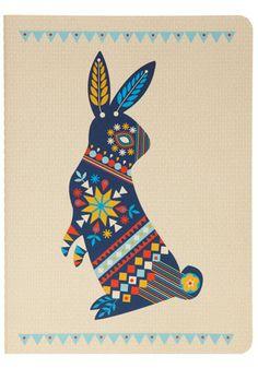 Dutch Rabbit Notebook via modcloth