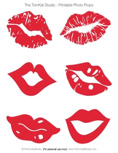 Free Printable Kissing Photo Booth Lips by The TomKat Studio Details here: http://www.thetomkatstudio.com/kissingbooth/