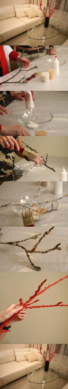 DIY Coral Branch - can see doing this with glitter for the holiday's.