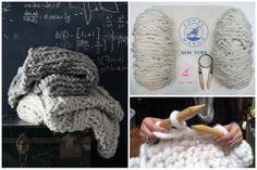 DIY Knit Kit  Big Loop Merino Chunky Knit Blanket or door loopymango, $440.00