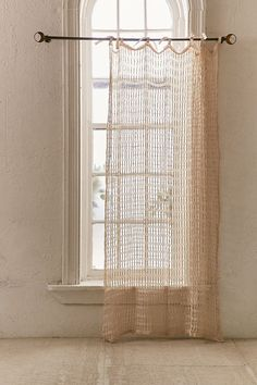 Shop Joni Net Window Curtain at Urban Outfitters today. We carry all the latest styles, colors and brands for you to choose from right here. Modern Net Curtains, Neutral Curtains, Shabby Chic Curtains, Patterned Curtains, Curtain Patterns, Curtain Designs, Urban Outfitters Home, Crochet Curtains, Crochet Curtain Pattern