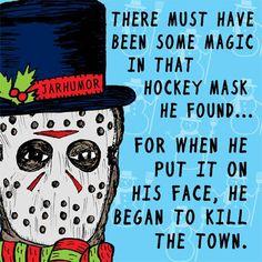 Jason Dark Christmas, Christmas Humor, Halloween Christmas, Christmas Things, Christmas Goodies, Christmas Art, Horror Show, Horror Art, Scary Movies