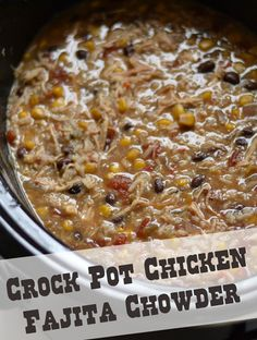 Crock Pot Recipe: Chicken Fajita Chowder #dinner #easy #crockpot