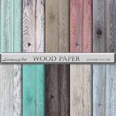 """Wood digital paper: """"Wood paper"""" rustic wood in turquoise brown beige green graywhitecoral blue for scrapbooking invites backdrops digital paper wood distressed distressed wood wood backgrounds wood background wood papers digital papers teal wood digital paper wood texture digital wood wood grain cottage chic LevitessArt 3.50 USD"""