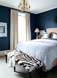 Arredamento bianco e blu estate 2016 - Camera da letto in stile ...