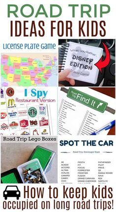 Whether you are planning a long road trip or just a couple hours out of town these road trip activities for kids will definitely come in handy. Road Trip With Kids, Family Road Trips, Travel With Kids, Family Travel, Road Trip Activities, Road Trip Games, Activities For Kids, Car Games For Kids, Road Trip Snacks