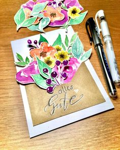 "Lena Klimann on Instagram: ""𝔼𝕚𝕟 𝕂𝕦𝕧𝕖𝕣𝕥 𝕧𝕠𝕝𝕝 𝔹𝕝𝕦𝕞𝕖𝕟 💐  Inspiriert von @ruthlangedesign ✨  #aquarellblumen #aquarellflowers #aquarellepainting #kuvert #handlettering…"" Instagram, Flowers, Royal Icing Flowers, Flower, Florals, Floral, Blossoms"