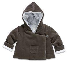 Newborn wrap coat in grey, by Marie-Chantal
