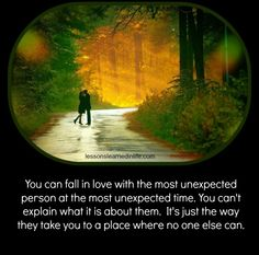 Lessons Learned in LifeUnexpected love. - Lessons Learned in Life Lessons Learned In Life, Life Lessons, Love Of A Lifetime, Miracle Quotes, Life Unexpected, Old Fashioned Love, Too Late Quotes, Autumn Scenes, Couple Questions