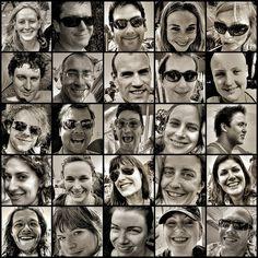 25 smiles. Festival faces mosaic by strollerdos, via Flickr